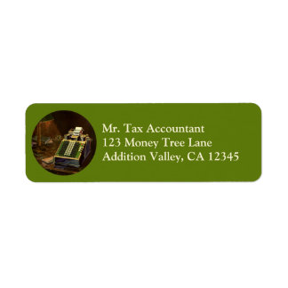 Vintage Business, Accountant Accounting Machine Return Address Label
