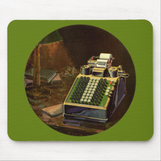 Vintage Business, Accountant Accounting Machine Mouse Pad