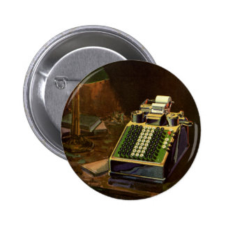 Vintage Business Accountant, Accounting Machine Pinback Button