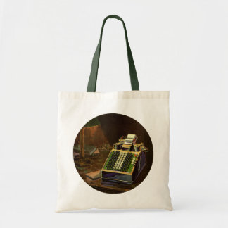 Vintage Business, Accountant Accounting Machine Tote Bag