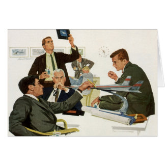 Vintage Business, Airline Executives in a Meeting Card