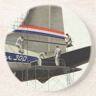 Vintage Business, Airlines Airplane Maintenance Coasters