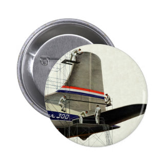 Vintage Business, Airlines Airplane Maintenance Pinback Button