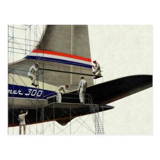 Vintage Business, Airlines Airplane Maintenance Postcard