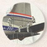 Vintage Business, Airlines Airplane Maintenance Sandstone Coaster