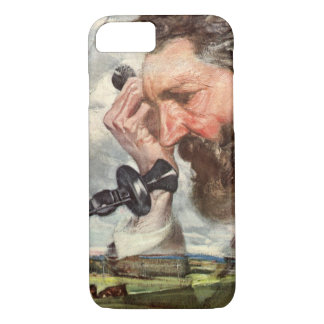 Vintage Business, Alexander Graham Bell Telephone iPhone 8/7 Case
