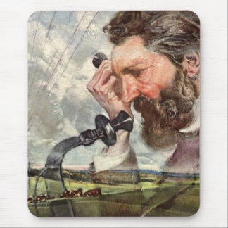 Vintage Business, Alexander Graham Bell Telephone Mouse Pad