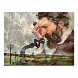 Vintage Business, Alexander Graham Bell Telephone Postcard