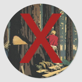 Vintage Business, Anti Lumber Industry Classic Round Sticker