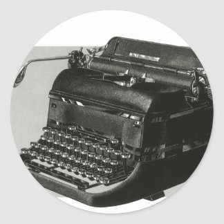 Vintage Business, Antique Office Manual Typewriter Classic Round Sticker