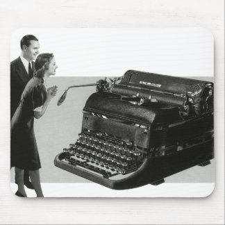 Vintage Business, Antique Office Manual Typewriter Mouse Pad