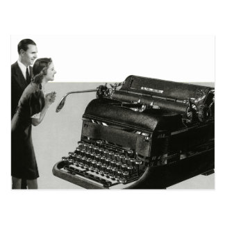 Vintage Business, Antique Office Manual Typewriter Postcard