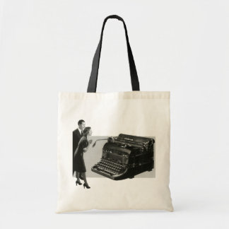 Vintage Business, Antique Office Manual Typewriter Tote Bag