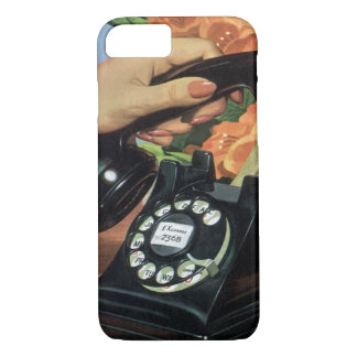 Vintage Business, Antique Phone with Rotary Dial iPhone 7 Case