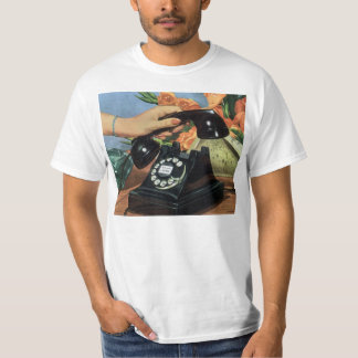 Vintage Business, Antique Phone with Rotary Dial T-Shirt