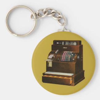 Vintage Business, Antique Retail Cash Register Basic Round Button Keychain