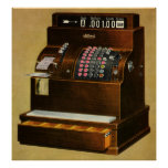 Vintage Business, Antique Retail Cash Register Poster
