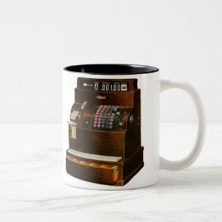 Vintage Business, Antique Retail Cash Register Two-Tone Coffee Mug