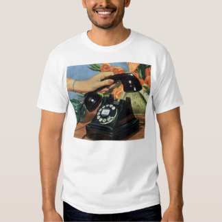 Vintage Business, Antique Rotary Dial Telephone T Shirt