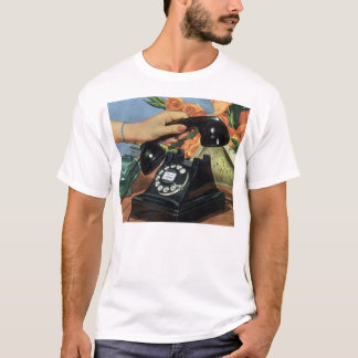 Vintage Business, Antique Rotary Dial Telephone T-Shirt