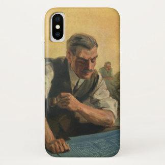 Vintage Business Architect and Building Blueprints iPhone X Case