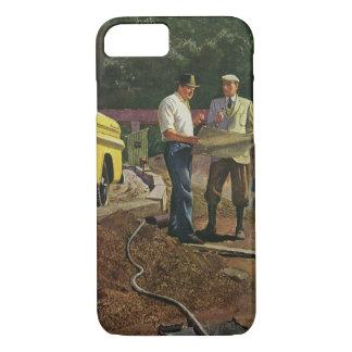 Vintage Business Architect Construction Contractor iPhone 8/7 Case