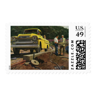 Vintage Business Architect Construction Contractor Postage