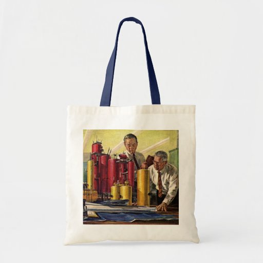 Vintage Business, Architects Working in an Office Tote Bags