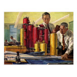 Vintage Business, Architects Working in an Office Postcards