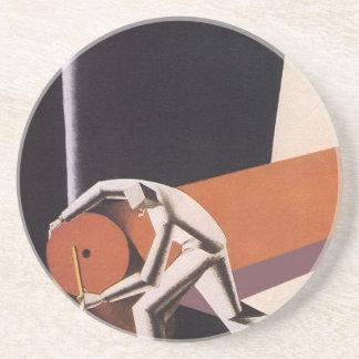 Vintage Business, Art Deco Fabrics and Textiles Coaster