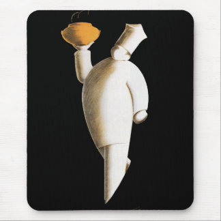 Vintage Business, Art Deco Restaurant Chef Mouse Pad