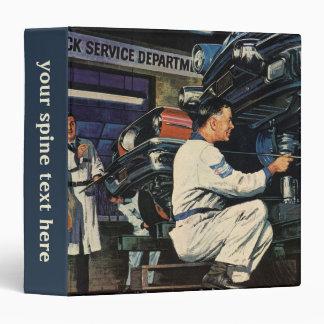 Vintage Business Auto Mechanic, Car Repair Service Binder