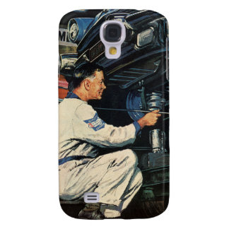 Vintage Business Auto Mechanic, Car Repair Service Galaxy S4 Cover