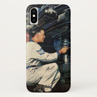 Vintage Business Auto Mechanic, Car Repair Service iPhone X Case