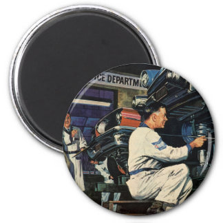 Vintage Business Auto Mechanic, Car Repair Service 2 Inch Round Magnet