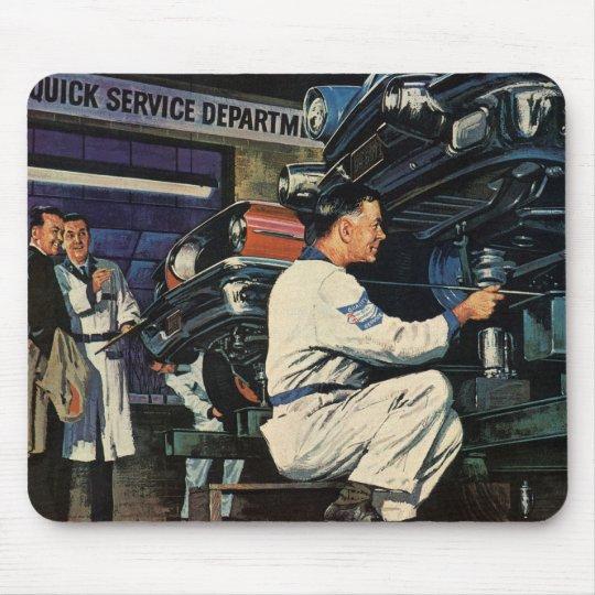Vintage Business Auto Mechanic, Car Repair Service Mouse Pad