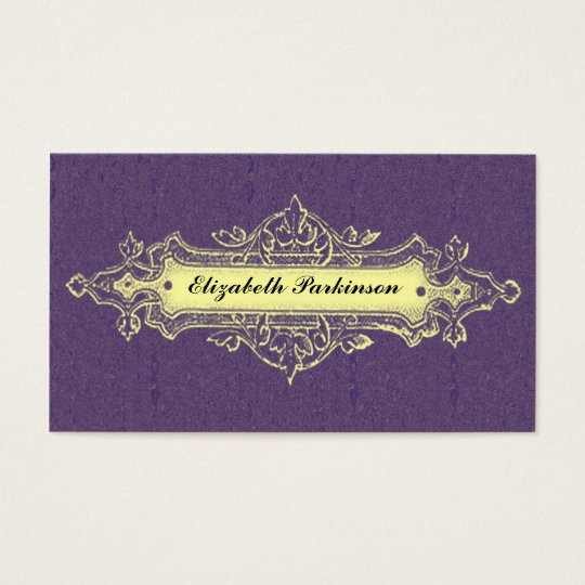 vintage business card with chic banner