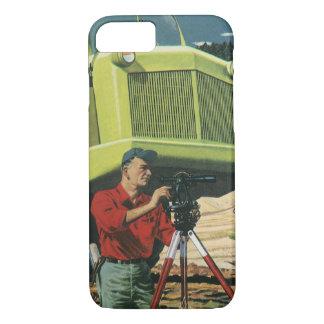 Vintage Business, Construction Site with Surveyor iPhone 8/7 Case