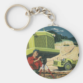 Vintage Business, Construction Site with Surveyor Keychain