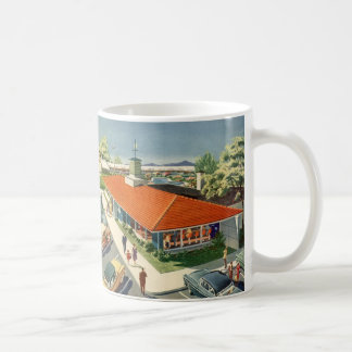 Vintage Business, Customers at a Family Restaurant Coffee Mug