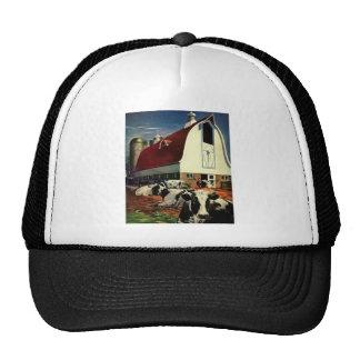 Vintage Business, Dairy Farm w Holstein Milk Cows Trucker Hat