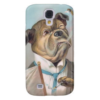 Vintage Business Dog 3G Spec Samsung Galaxy S4 Covers