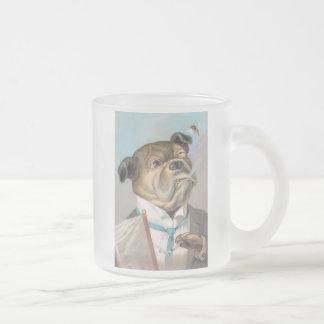 Vintage Business Dog Frosted Mug