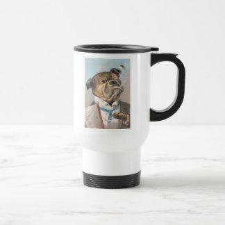 Vintage Business Dog Travel Mug