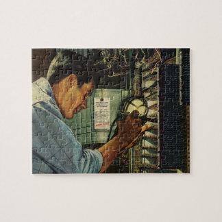 Vintage Business Electrician Circuit Breaker Panel Jigsaw Puzzle