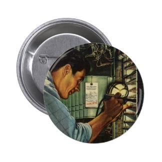 Vintage Business Electrician Circuit Breaker Panel Pinback Button