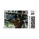 Vintage Business Electricians Work in a Snow Storm Postage
