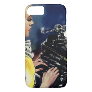 Vintage Business Executive Secretary Typing Letter iPhone 8/7 Case