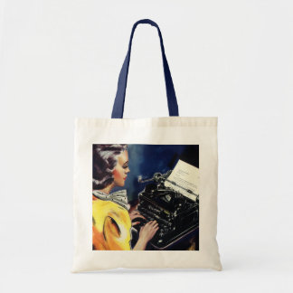 Vintage Business Executive Secretary Typing Letter Tote Bag