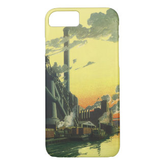 Vintage Business Factory, Manufacturing on a Dock iPhone 8/7 Case